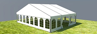 medium beam clear span tent