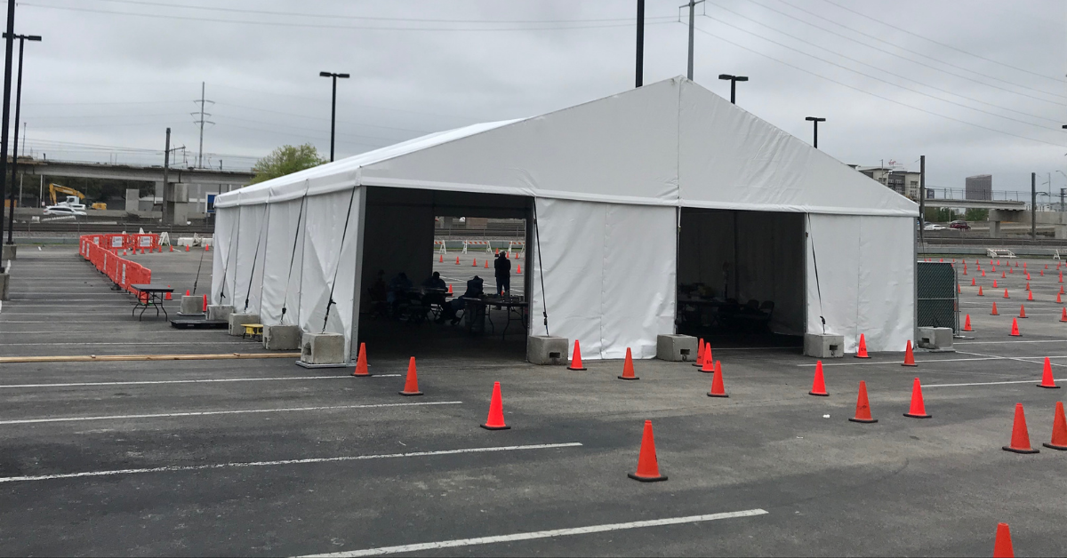Storm and Disaster Relief Tent